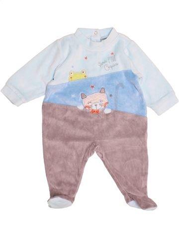 Pijama de 1 pieza niño ABSORBA gris 3 meses invierno #1507811_1