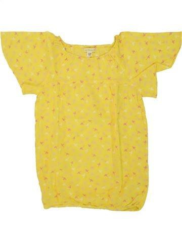 Blusa de manga corta niña VERTBAUDET amarillo 8 años verano #1507968_1