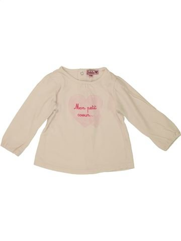 T-shirt manches longues fille KIMBALOO beige 12 mois hiver #1508151_1