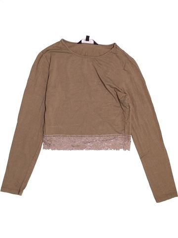 T-shirt manches longues fille NEW LOOK marron 13 ans hiver #1508172_1