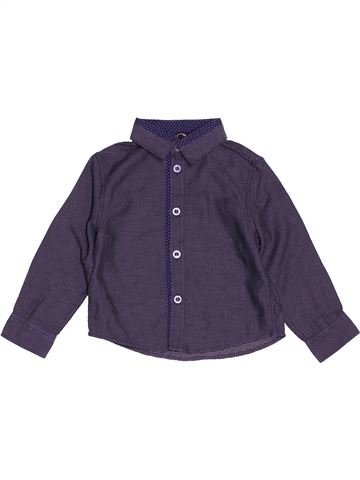 Chemise manches longues garçon GEORGE bleu 12 mois hiver #1508253_1
