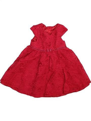 Robe fille GEORGE rouge 12 mois hiver #1508471_1