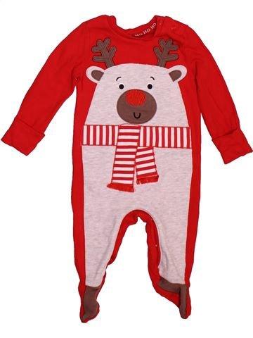Pyjama 1 pièce garçon F&F rouge 6 mois été #1508539_1