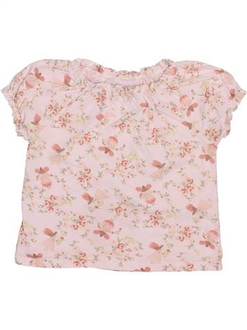 T-shirt manches courtes fille THE LITTLE WHITE COMPANY violet 18 mois été #1508552_1