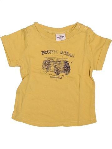 T-shirt manches courtes garçon TAPE À L'OEIL jaune 9 mois été #1508793_1