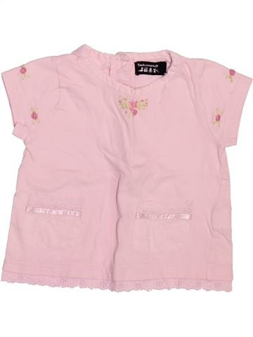 Camiseta de manga corta niña TOUT COMPTE FAIT rosa 6 meses verano #1508817_1
