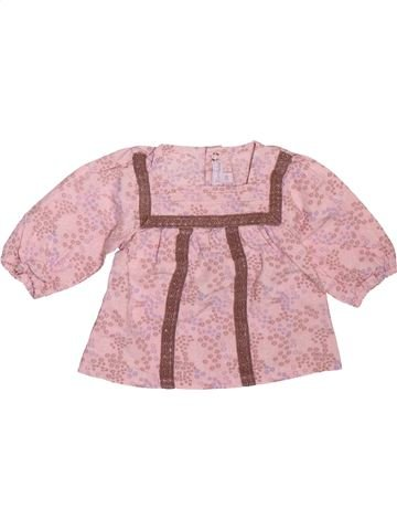 Blouse manches longues fille KIMBALOO rose 3 mois hiver #1508895_1