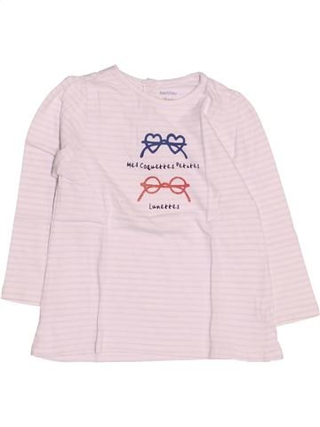T-shirt manches longues fille BOUT'CHOU rose 18 mois hiver #1509232_1