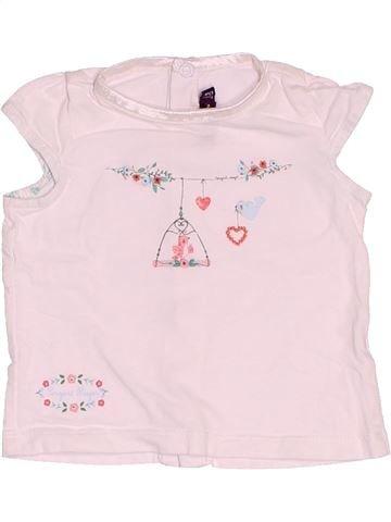 T-shirt manches courtes fille SERGENT MAJOR rose 6 mois été #1509459_1