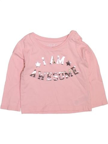 T-shirt manches longues fille PRIMARK rose 6 mois hiver #1509740_1