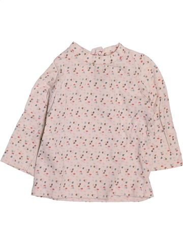 Camiseta de manga larga niña OKAIDI rosa 3 meses invierno #1509769_1