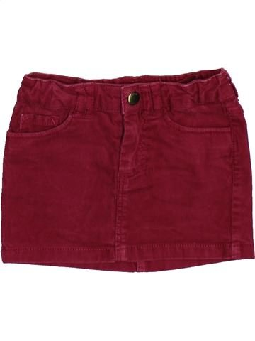 Jupe fille DPAM rouge 3 ans hiver #1509989_1