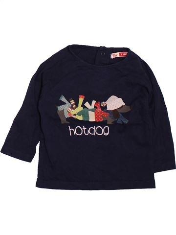 T-shirt manches longues garçon DPAM noir 6 mois hiver #1510099_1