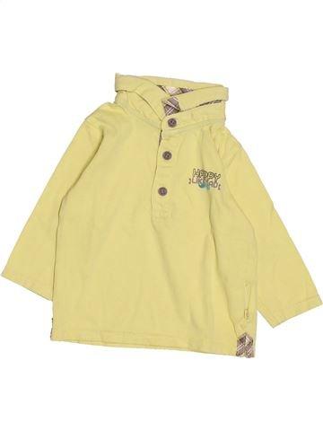 Polo manches longues garçon OKAIDI beige 6 mois hiver #1510532_1