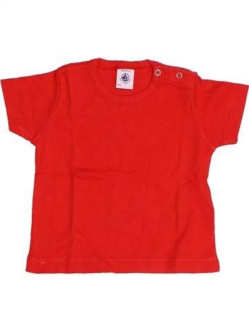 T-shirt manches courtes garçon PETIT BATEAU rouge 6 mois été #1510653_1