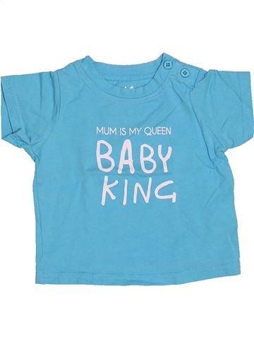 T-shirt manches courtes garçon TAPE À L'OEIL bleu 6 mois été #1510781_1