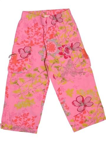 Pantalon fille 3 POMMES rose 2 ans été #1510827_1