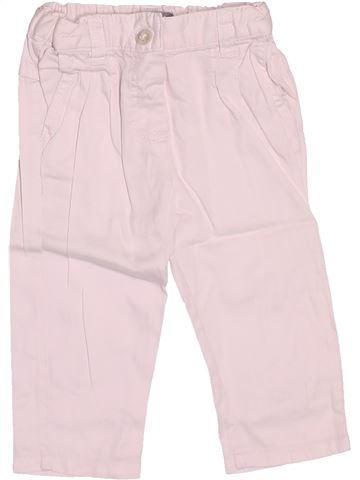 Pantalon fille VERTBAUDET rose 6 mois été #1510865_1