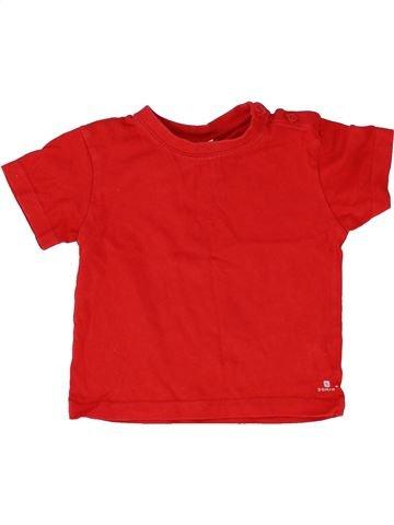 T-shirt manches courtes garçon DOMYOS rouge 3 ans été #1512144_1