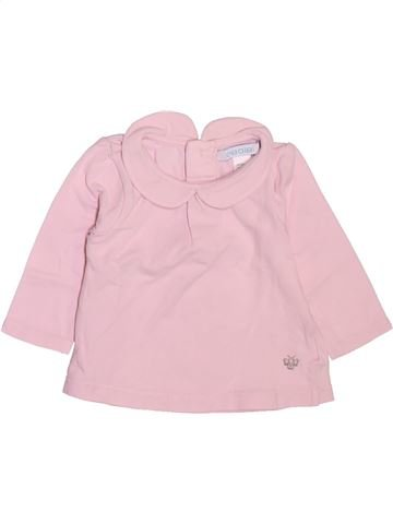 T-shirt manches longues fille OBAIBI rose 3 mois hiver #1512237_1