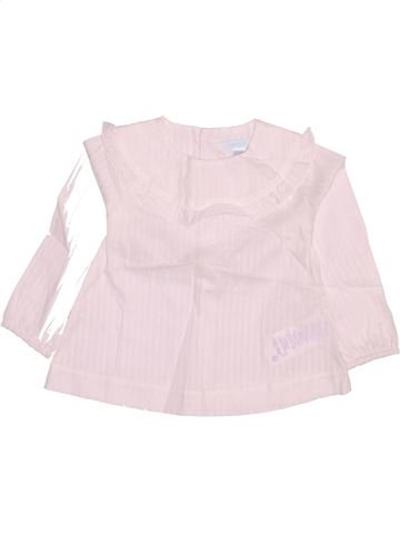 Blouse manches longues fille OKAIDI blanc 2 ans hiver #1512898_1