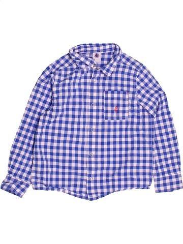 Chemise manches longues garçon PETIT BATEAU violet 5 ans hiver #1513296_1