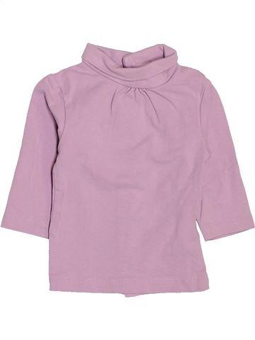 T-shirt col roulé fille KIABI rose 3 mois hiver #1513301_1