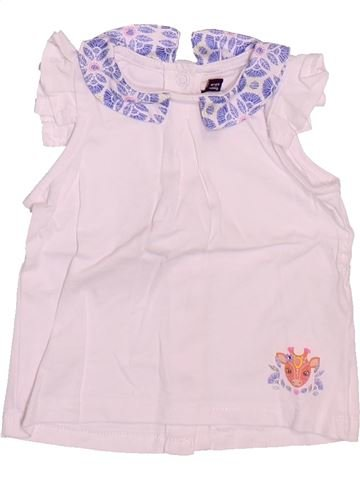 T-shirt sans manches fille SERGENT MAJOR blanc 6 mois été #1514587_1