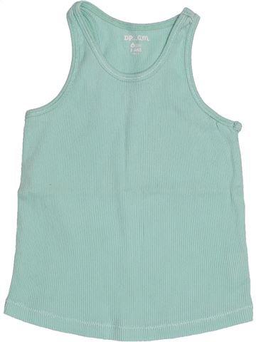 T-shirt sans manches fille DPAM bleu 5 ans été #1515146_1