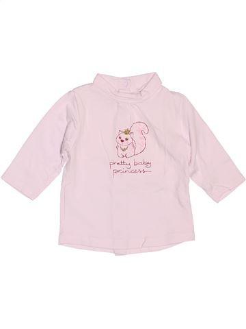 T-shirt col roulé fille BRIOCHE rose 3 mois hiver #1515334_1
