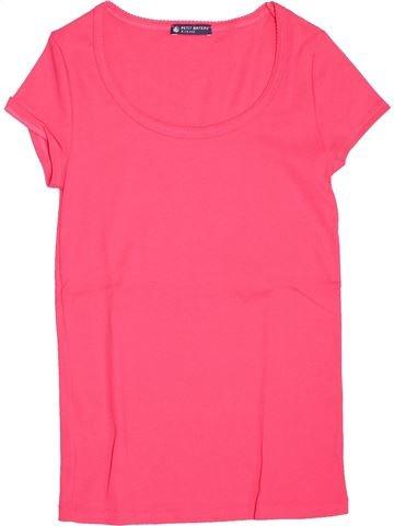 T-shirt manches courtes fille PETIT BATEAU rose 14 ans été #1515363_1