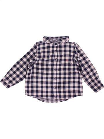 Chemise manches longues garçon PETIT BATEAU violet 2 ans hiver #1515378_1
