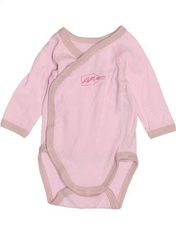 T-shirt manches longues fille PETIT BATEAU rose naissance hiver #1515958_1