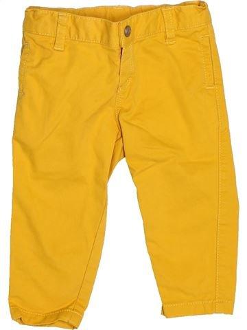 Pantalon garçon PETIT BATEAU jaune 6 mois hiver #1516026_1