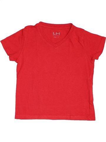 T-shirt manches courtes fille LH BY LA HALLE rouge 4 ans été #1518285_1