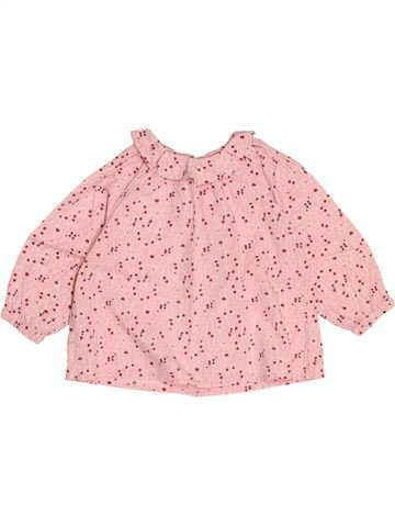 Blouse manches longues fille DPAM rose 18 mois hiver #1518375_1