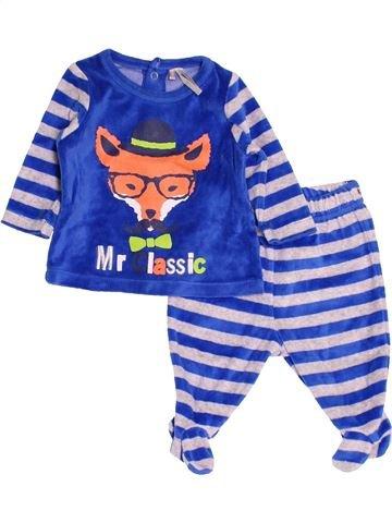 Pyjama 2 pièces garçon ORCHESTRA blanc 3 mois hiver #1519180_1