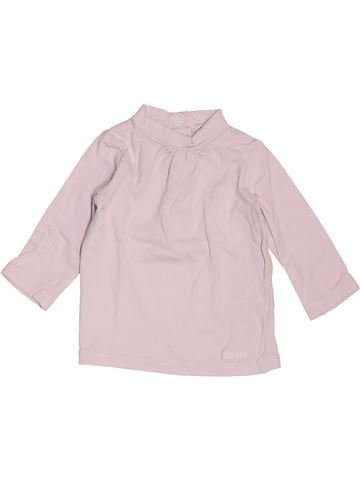 T-shirt manches longues fille DPAM rose 3 mois hiver #1519324_1