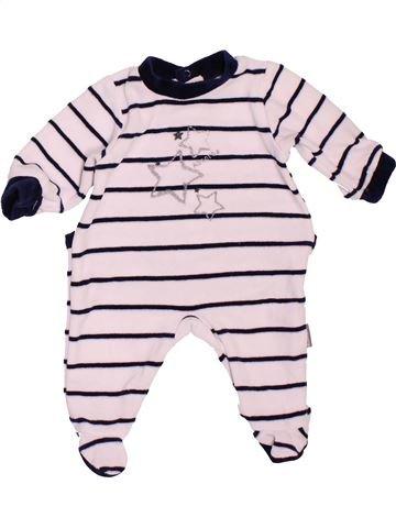 Pyjama 1 pièce garçon ABSORBA rose 1 mois hiver #1519930_1