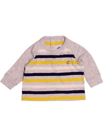 T-shirt manches longues garçon PETIT BATEAU rose 3 mois hiver #1520275_1