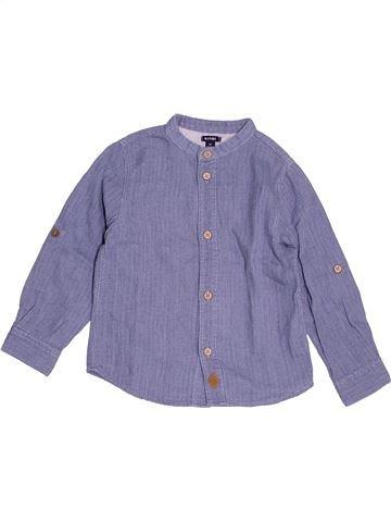 Chemise manches longues garçon KIABI bleu 4 ans hiver #1520439_1