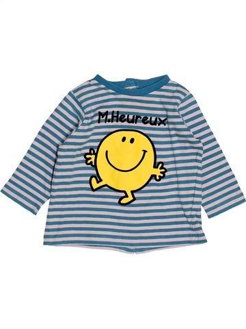 T-shirt manches longues garçon MONSIEUR MADAME gris 3 mois hiver #1520785_1