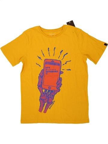 T-shirt manches courtes garçon QUIKSILVER jaune 10 ans été #1521003_1