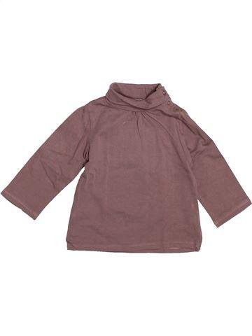 T-shirt col roulé fille JODHPUR violet 6 mois hiver #1521648_1