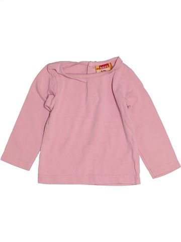 T-shirt manches longues fille DPAM rose 12 mois hiver #1521670_1