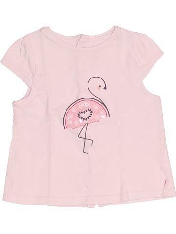 T-shirt manches courtes fille OKAIDI rose 6 mois été #1522277_1