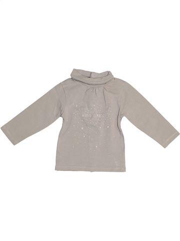 T-shirt col roulé fille KIABI gris 6 mois hiver #1522909_1