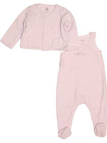 Pyjama 2 pièces fille PETIT BATEAU rose 6 mois hiver #1523301_1