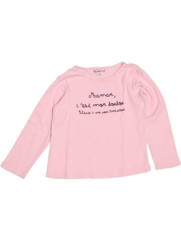 T-shirt manches longues fille ENFANDISES rose 3 ans hiver #1523319_1