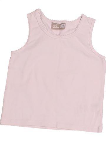 T-shirt sans manches fille DPAM rose 18 mois été #1523859_1